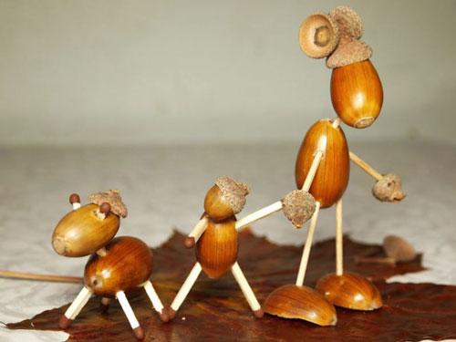 поделки из осенних материалов в садик для детей 6 лет