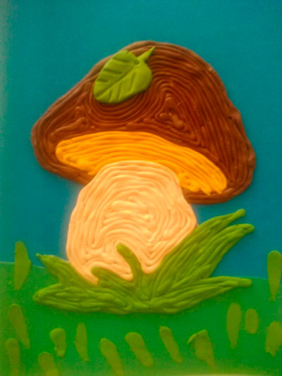 Поделки грибы из пластилина