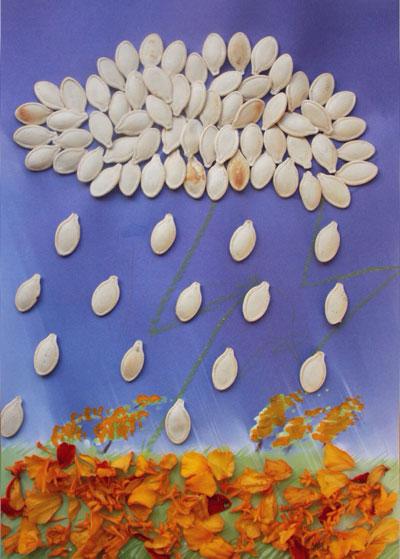 поделки из семечек тыквы 4