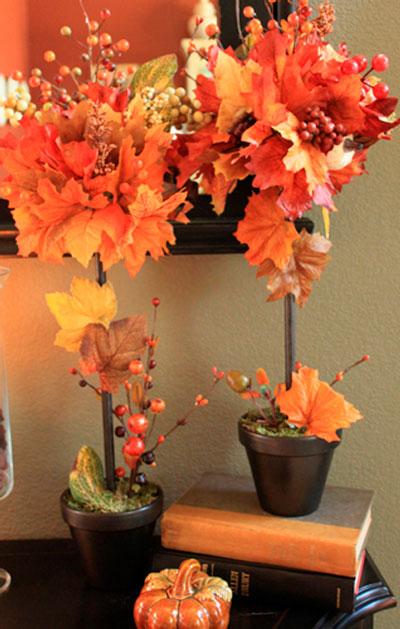 сделать осеннюю поделку из листьев 4