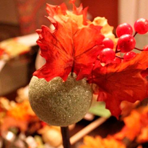сделать осеннюю поделку из листьев 3
