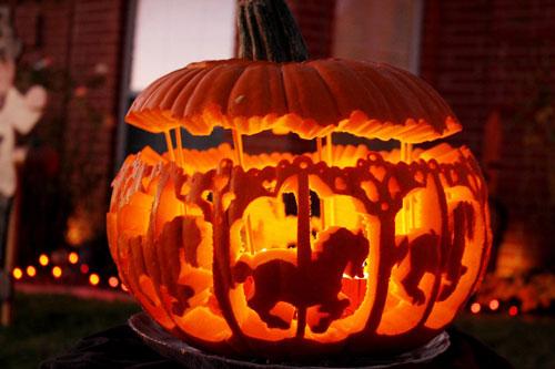 сделать поделку поделку из тыквы на хэллоуин 3
