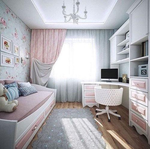 дизайн комнаты 12 кв девочки подростка