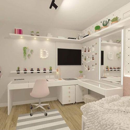 пастельная комната для девочки подростка
