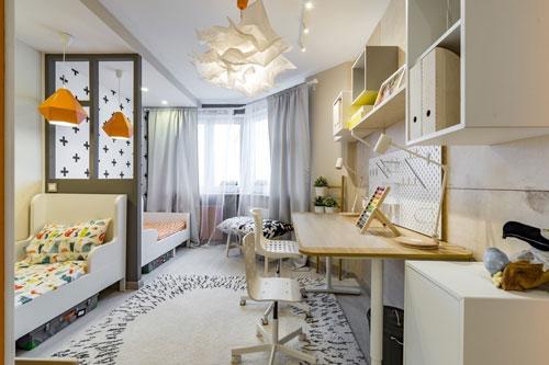 Интерьер детской комнаты в белом цвете