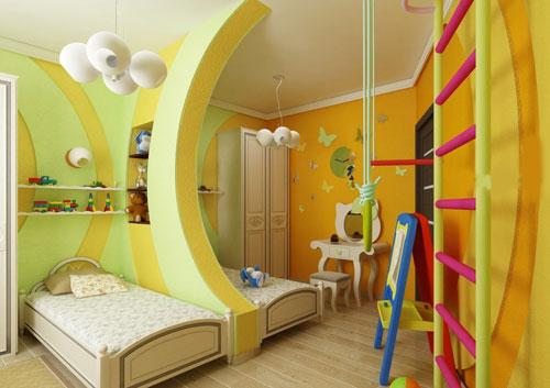уютная детская комната для мальчика и девочки 2