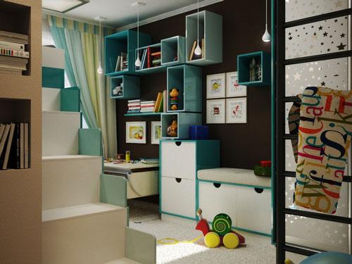 детская комната для двух детей разного пола