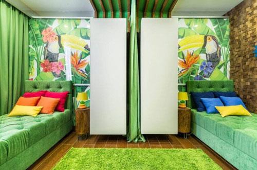 зонирование детской комнаты для двоих школьников
