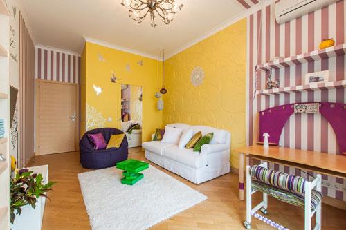 комната зонирование детская и зал
