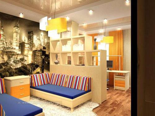 зонирование детской комнаты 16 кв м