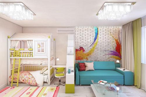 идеи зонирования детской комнаты