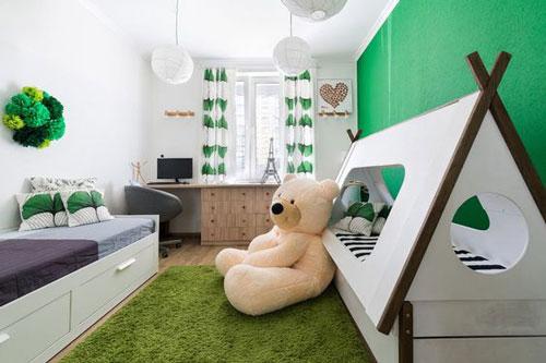зонирование детской комнаты для разнополых деток 2