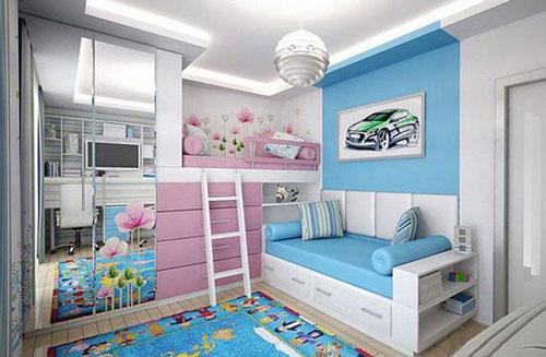 зонирование детской комнаты для разнополых деток 3