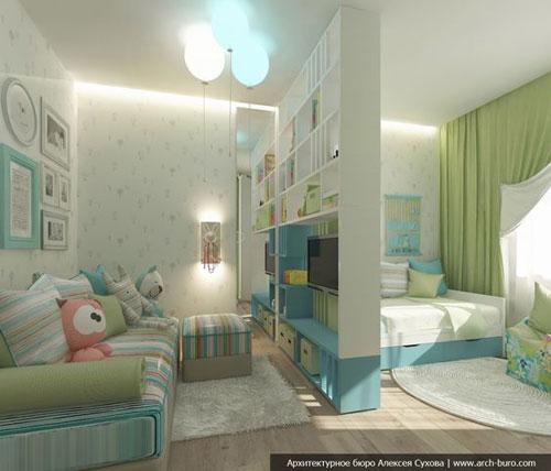 зонирование детской комнаты +для разнополых своими руками