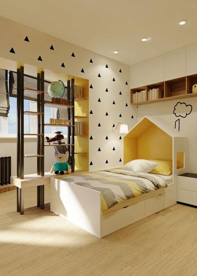 зонирование детской комнаты для разнополых деток 8