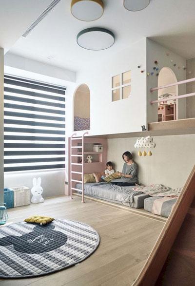 зонирование детской комнаты для разнополых деток 10