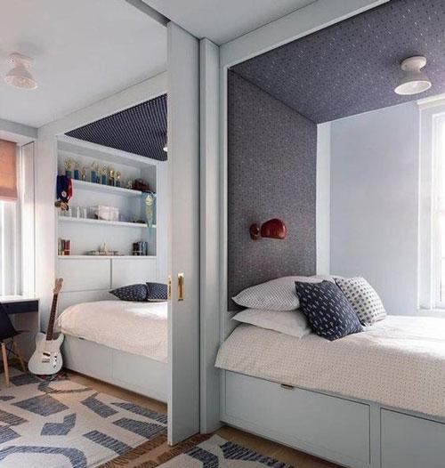 зонирование детской комнаты 17 кв м шторой