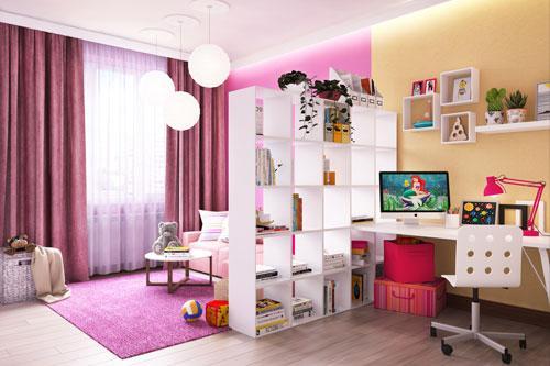 зонирование детской комнаты для одного ребенка