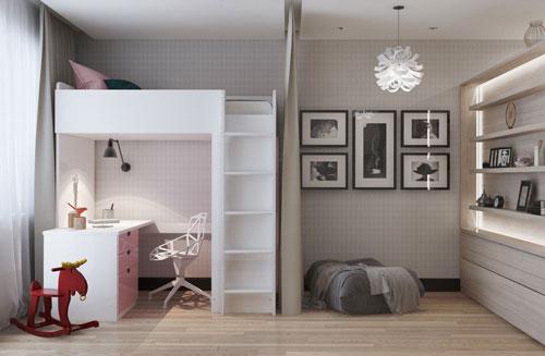 перегородки для зонирования пространства в детской комнате