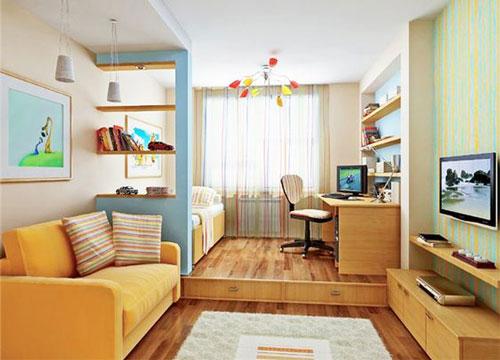 зонирование детской комнаты 12 кв м