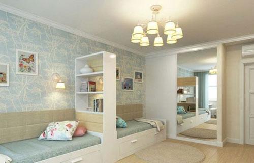 перегородка для зонирования детской комнаты 3