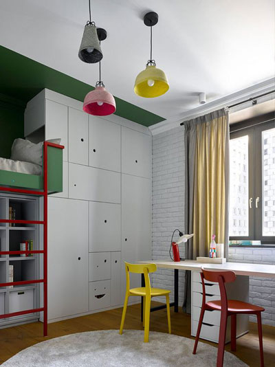 зонирование комнаты для разнополых детей 10