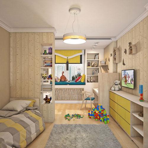 зонирование детской комнаты +для детей разного возраста