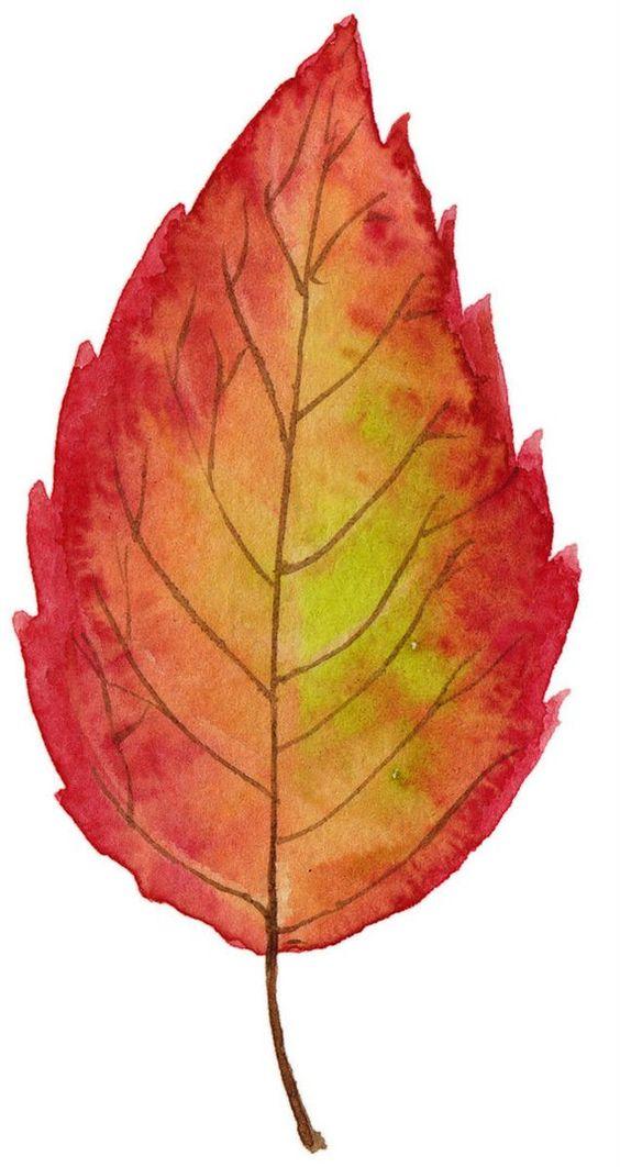 осенний лист из цветной бумаги 6