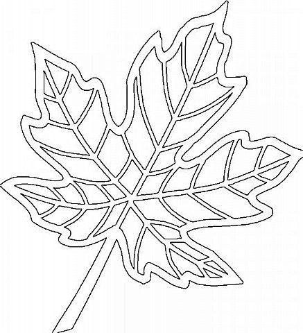 осенний лист поделка из бумаги 3
