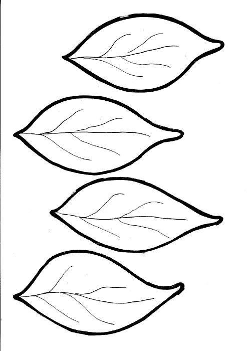 осенний лист из цветной бумаги 11