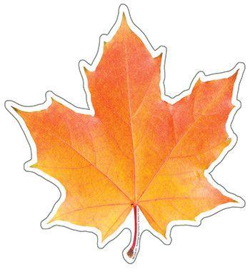 осенние листья из бумаги трафарет 8