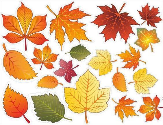 осенние листья из бумаги трафарет 11