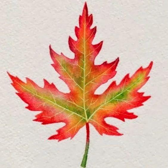 осенний лист из цветной бумаги 8