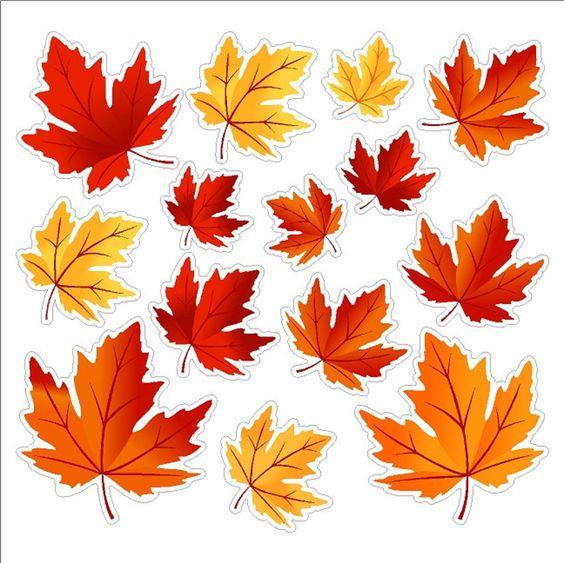 осенние листья из бумаги трафарет 10