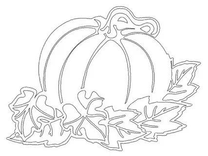 осенние листья из бумаги трафарет 6