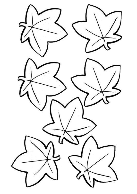 осенние листья из бумаги трафарет