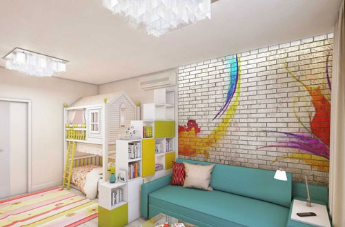 Как разместить детскую в однокомнатной квартире