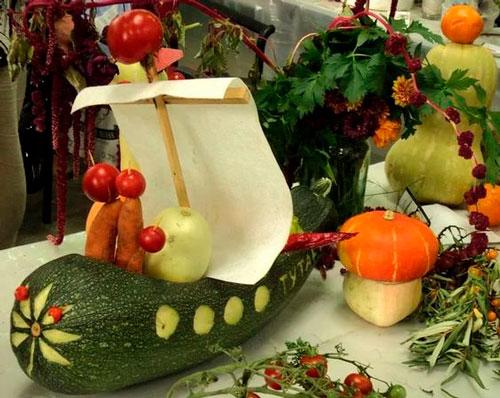 красивые поделки овощей