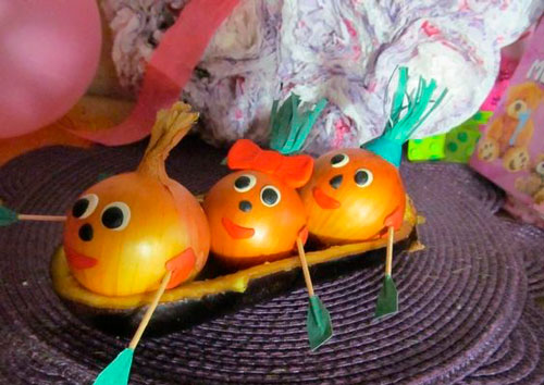 поделки осень овощи фрукты