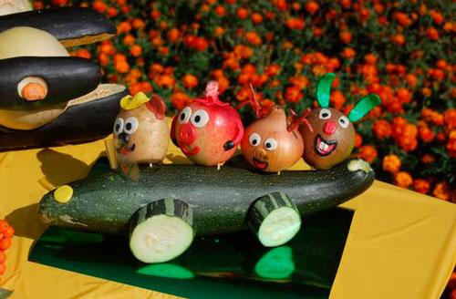 поделка в садик фрукты овощи
