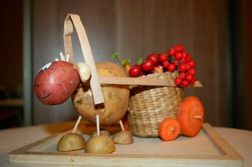 конкурс поделок из овощей