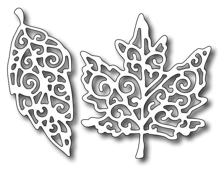 осенние листья для вырезания из бумаги 14