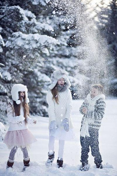 Как красиво сфотографировать ребенка зимой