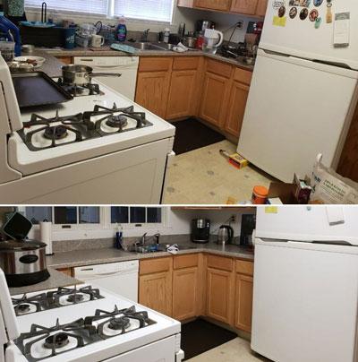 как навести порядок в шкафу на кухне