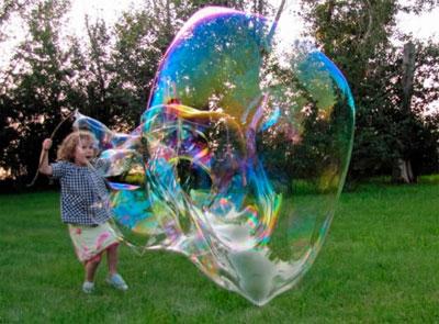 раствор для мыльных пузырей в домашних условиях