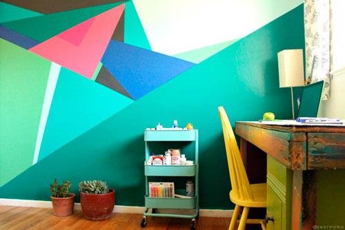 интересное оформление стен в детской 3