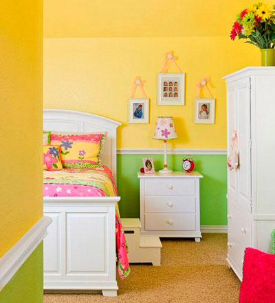 интересное оформление стен в детской 2