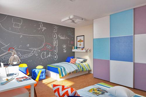 Оформление стен в детской комнате подростка 4