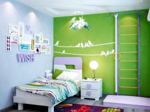 Оформление стен в детской комнате своими руками 2