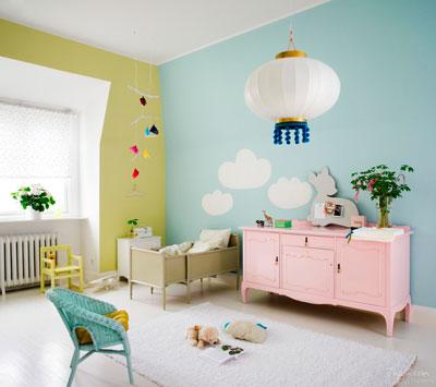 цвет в оформлении детской комнаты